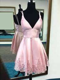 light pink graduation dresses cute pink homecoming dress spaghetti straps short prom dress party