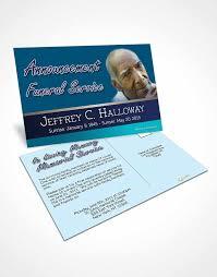 bifold order of service obituary template brochure ocean breeze