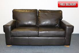 Brown Faux Leather Sofa Helibeds Same Day Or Next Day Delivery Of Sofa S Brown