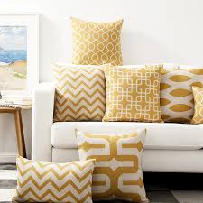 canapé maison décoratif coussins cas or couleur vague linge housses de coussin