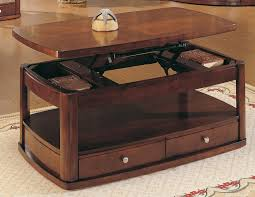 raising coffee table with storage boulder creek open lift top
