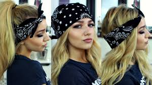 how to wear a bandana with short hair pia mia kylie jenner inspired bandana hairstyles hair tutorial