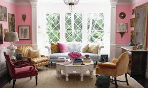 Pink Living Room Furniture Stylish Living Room Design With Classic Sofa Furniture For