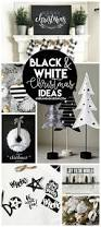 White Christmas Tree With Black Decorations Black And White Christmas A And A Glue Gun