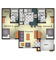 2 Bedroom Floor Plans by Bobcat Village Department Of Housing And Residential Life