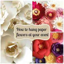 How To Hang A Picture On A Brick Wall Tips On How To Hang Paper Flowers For Backdrops And Photo Walls