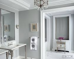 Bathroom Color Ideas Photos by Elegant Bathroom Paint Idea With Grey Painted Wall And White