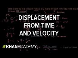 displacement from time and velocity exle khan academy