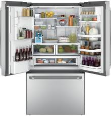 Cafe Swinging Doors Kitchen Ge Cafe Stainless French Door Refrigerator Cfe28ushss