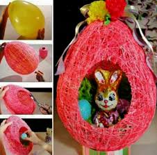 Decorate Easter Basket Ideas by Wonderful Diy Yarn String Easter Basket