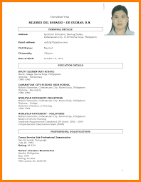 Resume Sample Format Philippines by Resume Sample For College Student Philippines Augustais
