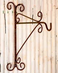 wrought iron plant container hook wall bracket u0026 mount