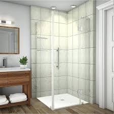 frameless shower glass doors showers aqua glass corner shower kit 36 x 36 corner shower doors