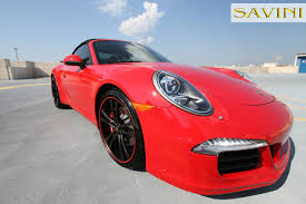 red porsche black wheels 991 savini wheels