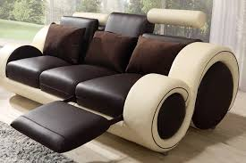 Brown Leather Sofas by Brown And Cream Manual Recliner Leather Sofa Suite