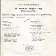 All I Want For Christmas Is You Meme - 45cat vince vance and the valiants all i want for christmas is