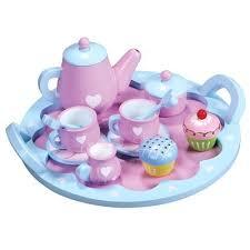 geschirr kinderküche spiel geschirr aus holz rosa mit weißen herzen kinderküche