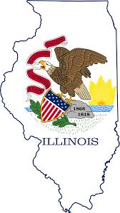 Maps Of Illinois by File Flag Map Of Illinois Svg Wikimedia Commons