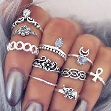ring sets vintage boho 10 ring set rebel style shop
