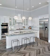 frosted glass pendant kitchen contemporary with white counter