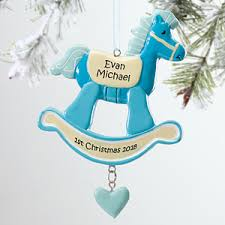 personalized baby christmas ornament personalized christmas ornaments for boys rocking
