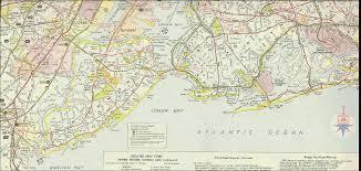Map Staten Island New York 1960 Brooklyn Staten Island