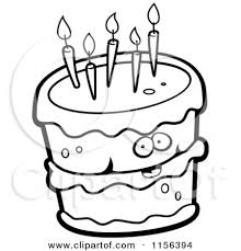 happy birthday balloon clipart black and white clipart panda