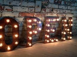 vintage style metal letters west vintage trading company also