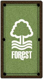 Logo Table Cloth by Nottingham Forest Pool Table Cloth Design 2 6ft Home Leisure