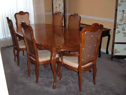 french provincial dining table drexel french provincial dining room double leaf table chairs dma