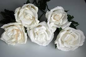 crepe paper flowers white roses diy youtube