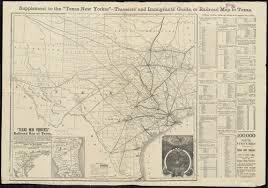 Railroad Map Texas New Yorker U0027s Railroad Map Of Texas Digital Commonwealth