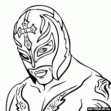 the incredible rey mysterio coloring pages to really encourage to