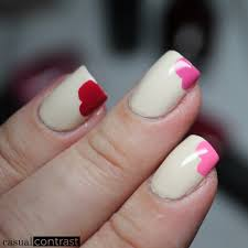perfect valentine u0027s day manicure for square nails u2022 casual contrast