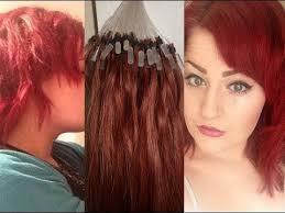 pixie to long hair extensions using microloop extensions to create a new hair shape youtube