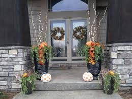 Front Porch Fall Decorating Ideas - small front porch fall decor home design ideas