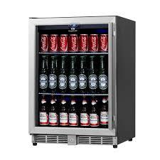 glass door commercial refrigerator amazon com kingsbottle 160 can beverage cooler stainless steel