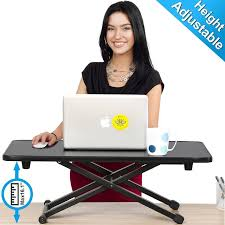 adjustable desks for standing and sitting fitueyes standing desk height adjustable desk converter monitor