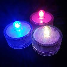 submersible led lights wholesale party decoration led tea light colorful battery operated submersible