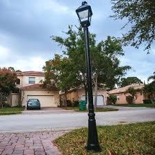 led driveway pole lights driveway post light medium size of mailbox post solar light ideas