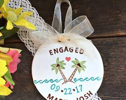 themed fish engagement ornament