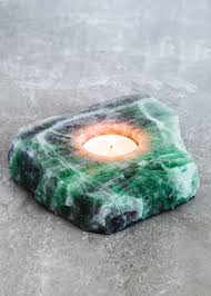 fluorite slab candle holder crystals apartments and future