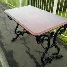 Iron Base Dining Table Cast Iron Base Dining Garden Tables Ex Pub Items In Coatbridge