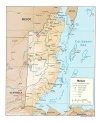 New York Relief Map by Belize Map Belmopan