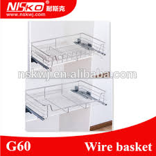 Pull Out Baskets For Kitchen Cabinets by Stainless Steel Cabinet Pullout Basket Kitchen Cabinet Basket