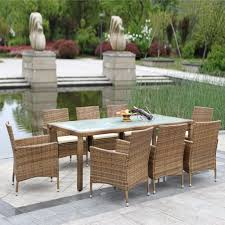 Durable Patio Furniture Outdoor Cushioned Wicker Patio Set Garden Lawn Sofa Furniture Seat