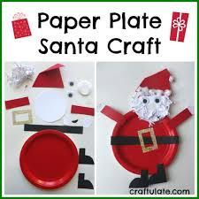 paper plate santa craft santa crafts craft and holidays