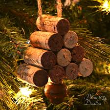 wine cork christmas tree ornament plum doodles