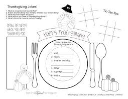 thanksgiving placemat 5 and activities to keep the kids busy on thanksgiving