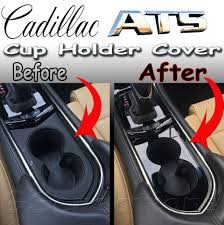 cadillac ats headlights cadillac ats front cup holder cover cut out style 2013 2014 2015
